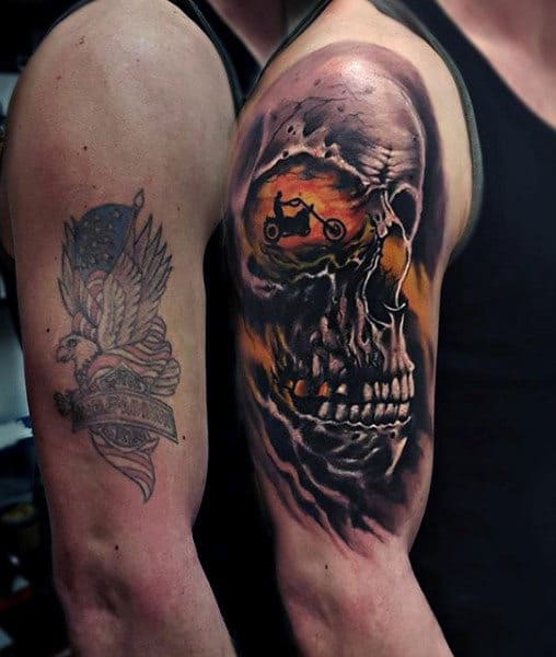 90 Harley Davidson Tattoos For Men Manly Motorcycle Designs Ideas And Designs