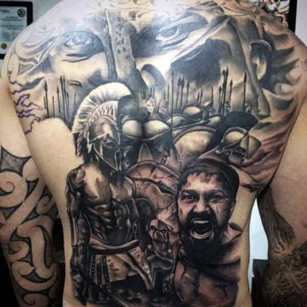 50 Spartan Tattoo Designs For Men Masculine Warrior Ideas Ideas And Designs