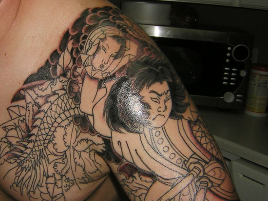 Zombie Designstattoo Tribal Tattoo With Shading Ideas And Designs