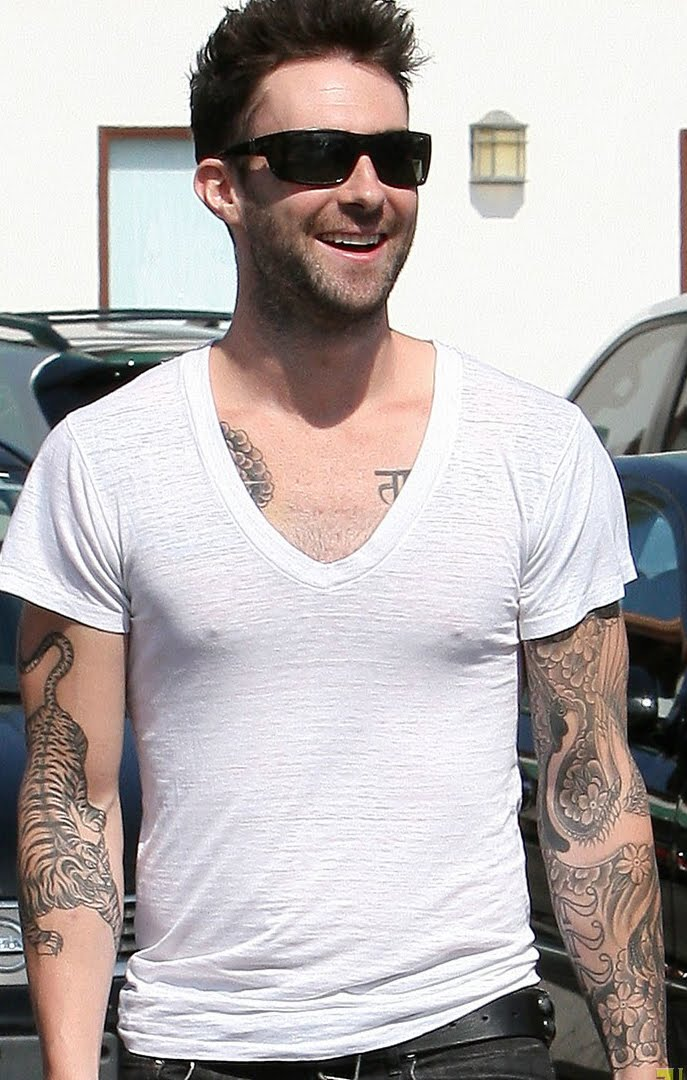 World Famous Celebrities Adam Levine And Full Tattoos On His Body Ideas And Designs