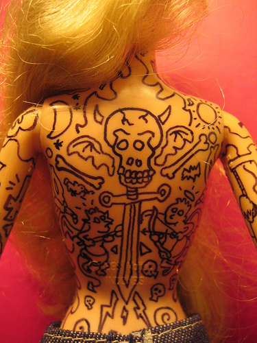 Celebrity S Tattoos All Around The World Barbie Doll S Tatto Ideas And Designs