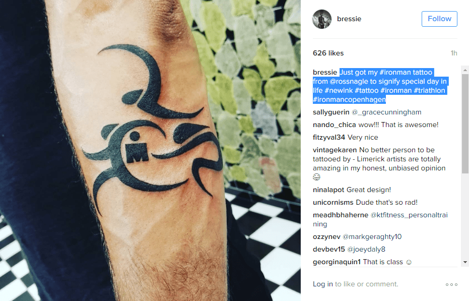 Bressie Shows Off New Tattoo Celebrating His Gruelling Ideas And Designs