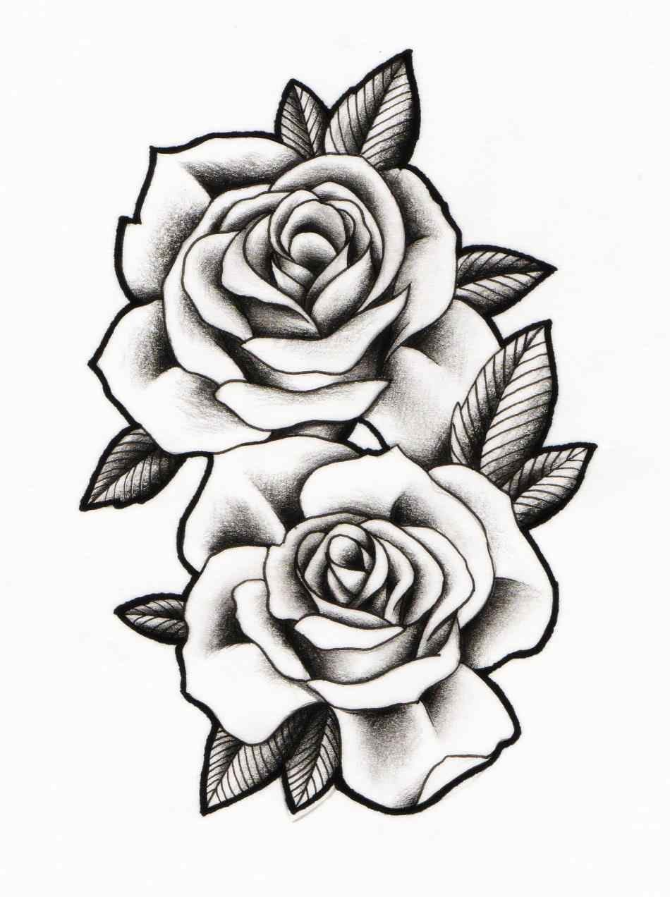 Rose Black And White Outline Free Download Best Rose Ideas And Designs