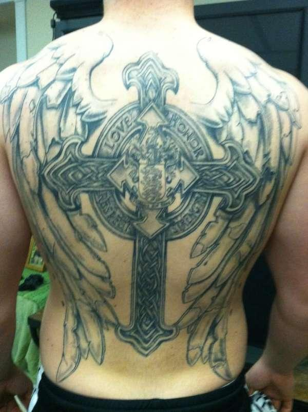 25 Glorious Cross With Wings Tattoo Designs Slodive Ideas And Designs