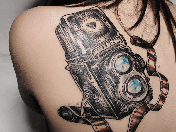 24 Magical Camera Tattoo Designs Slodive Ideas And Designs