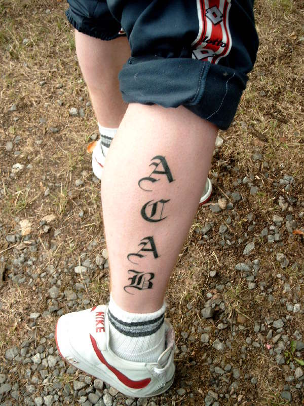 A C A B Tattoo Ideas And Designs