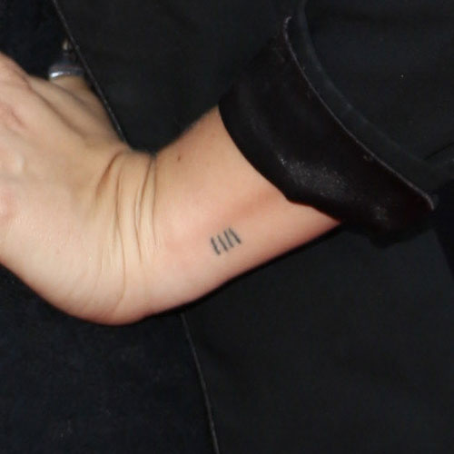 Scout Taylor Compton Lines Tally Marks Wrist Tattoo Ideas And Designs