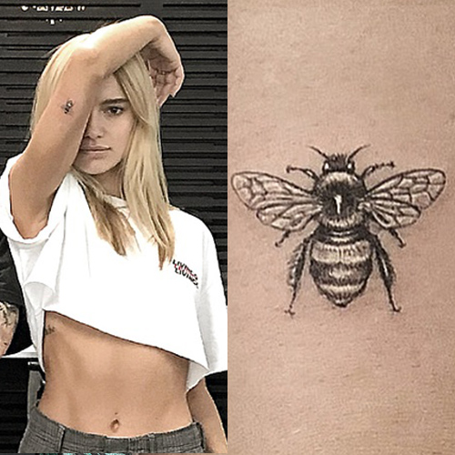 Maya Stepper Bee Upper Arm Tattoo Steal Her Style Ideas And Designs