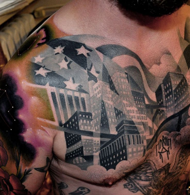 Town Tattoo By Marcin Aleksander Surowiec Ideas And Designs