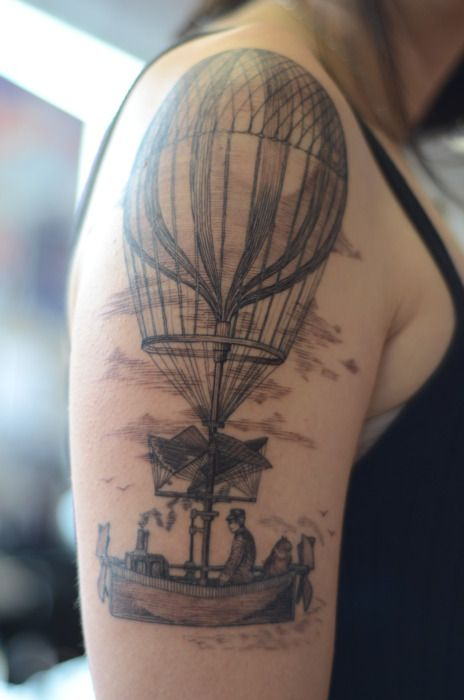 Vintage Air Balloon Tattoo By Alice Kendall Ideas And Designs
