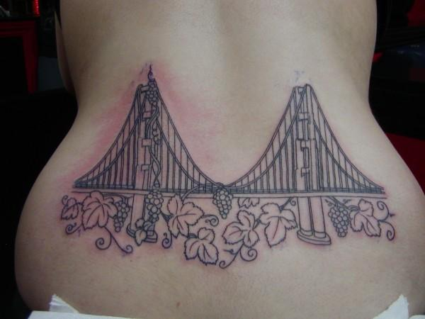 Outline Of The Golden Gate Bridge Image Tattoos Ideas And Designs