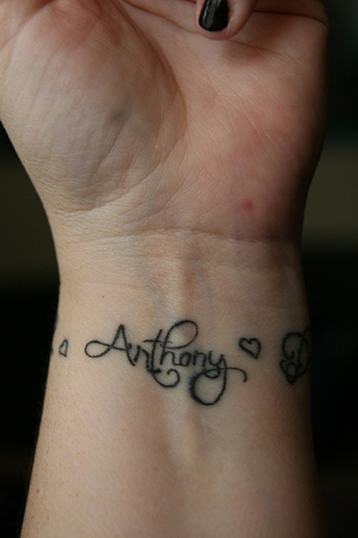 Cr Tattoos Design Cool Wrist Tattoos With Names Ideas And Designs