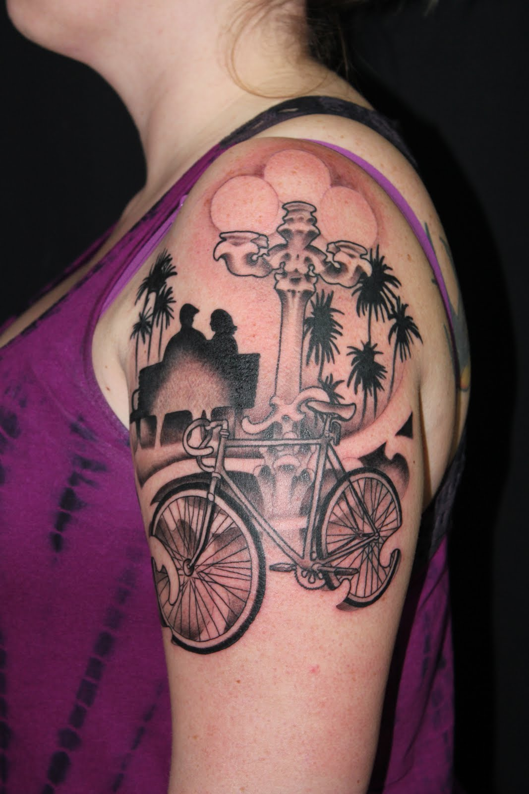 Keller Tattoos Bicycle 1 2 Sleeve Ideas And Designs