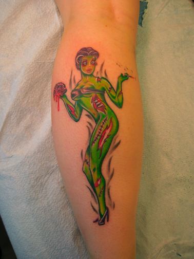Alameda Tattoo Zombie Pin Up Girl And Zombie Business Man Ideas And Designs