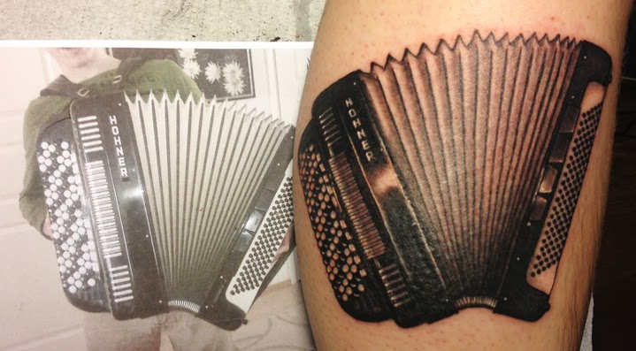Lantern Spaceships Accordion And A Lady Tattoo Lawas Ideas And Designs