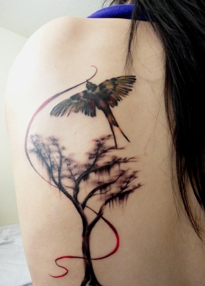 Gorgeous Tree And Bird Female Tattoofemale Tattoos Gallery Ideas And Designs