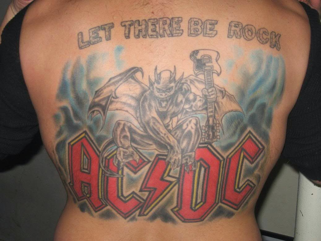 Tattoo Gallery For Men Ac Dc Tattoos Ideas And Designs