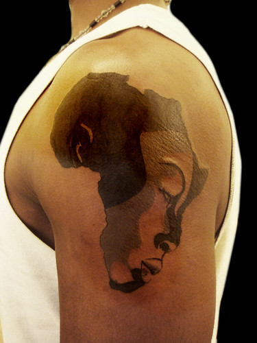 African Continent And Woman Face Tattoo Custom Design A Ideas And Designs