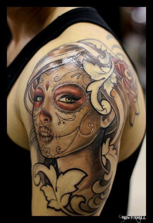 Mesmerizing Mexican Sugar Skull Tattoo Collection Ideas And Designs