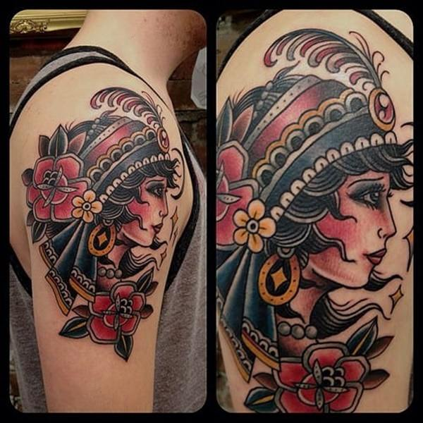 55 Beautiful Gypsy Tattoos For Those Forever Wandering Ideas And Designs