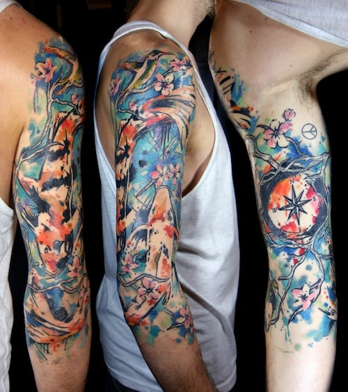 Watercolor Tattoos For Men Ideas And Inspiration For Guys Ideas And Designs