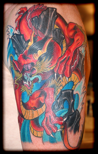 Dragon 1 2 Sleeve On Outer Arm Tattoos Ideas And Designs
