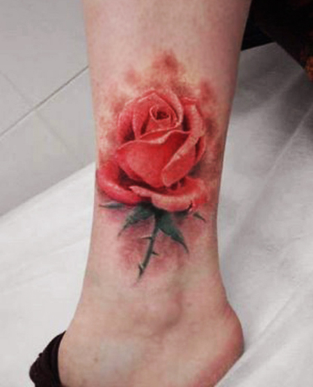 3D Red Flower Tattoo Design 2012 Sheplanet Ideas And Designs