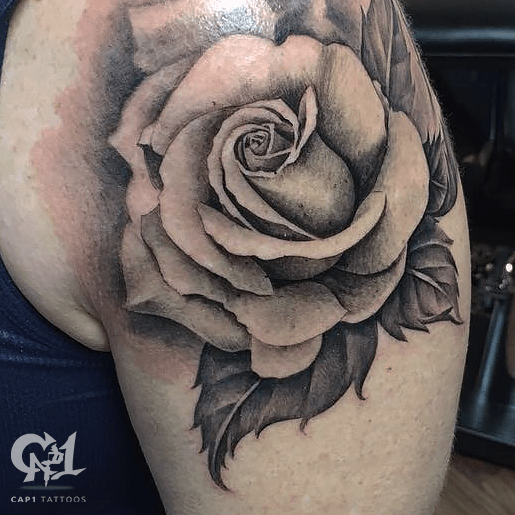Cap1 Tattoos Tattoos Capone Black And Gray Rose Tattoo Ideas And Designs
