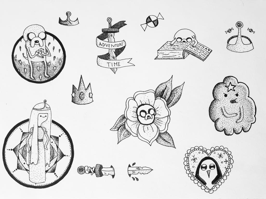 Adventure Time Tattoo Designs By Pixiebmth On Deviantart Ideas And Designs