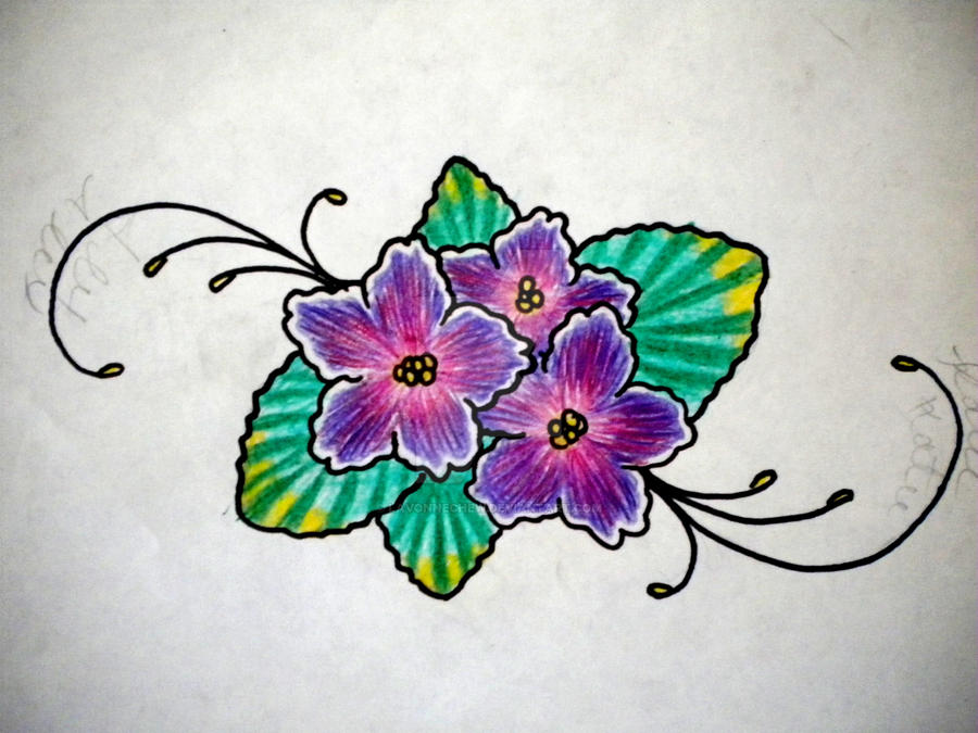 African Violet By Lavonnechew On Deviantart Ideas And Designs