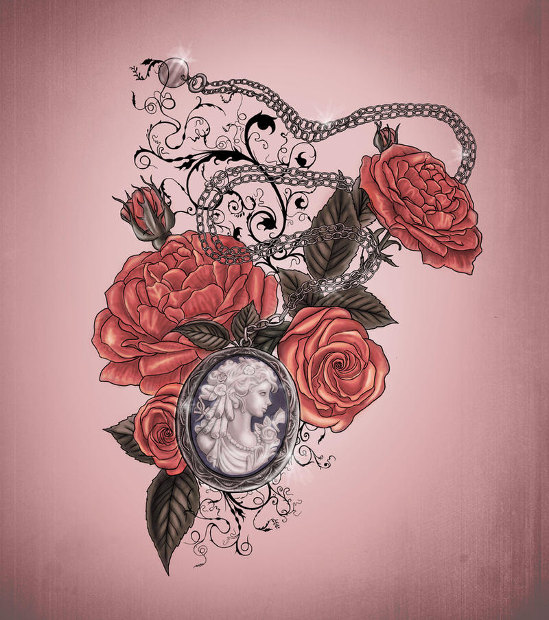 Locket And Roses Tattoo Design By Xxmortanixx On Deviantart Ideas And Designs