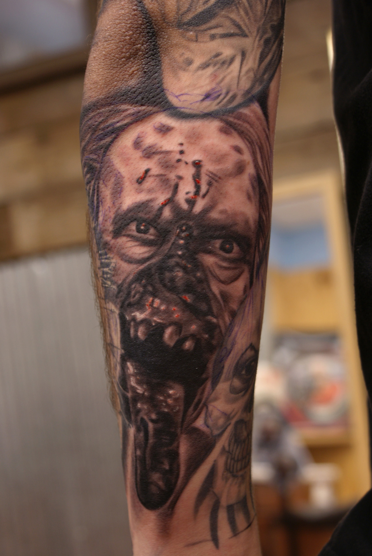 Horror Portrait Best Portrait Tattoo Artist Tampa 1603 Ideas And Designs
