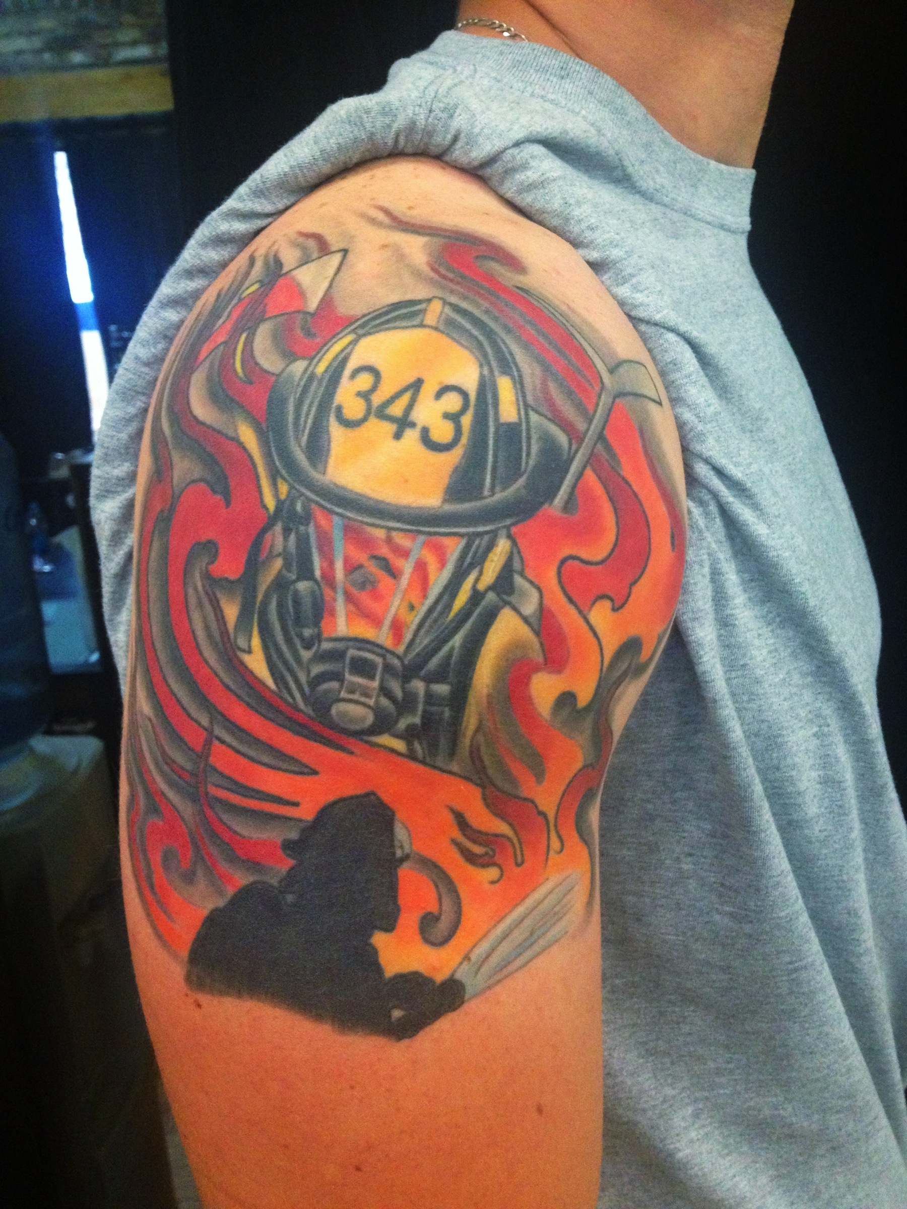 Fire Fighter Tattoo Ybor City 1603 Tattoo Tampa Josh Ideas And Designs