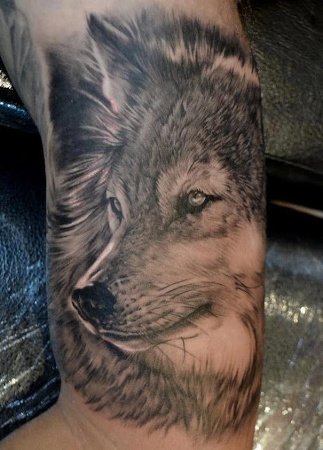 Wolf Tattoo In 3D Ideas And Designs