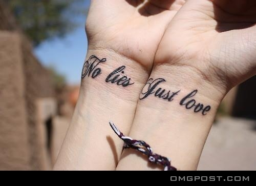 No Lies Just Love Couple Tattoo We Know How To Do It Ideas And Designs