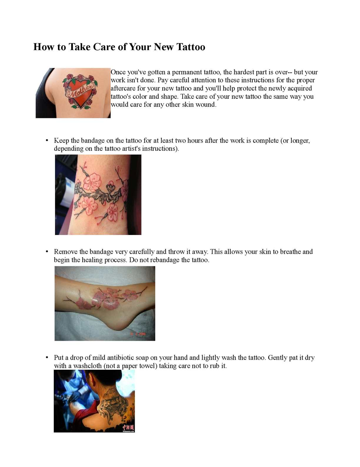 Calaméo How To Take Care Of Your New Tattoo Tattoo Ideas And Designs