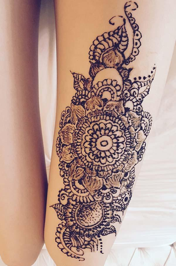 Henna Mehndi Tattoo Designs Idea For Thigh Tattoos Art Ideas Ideas And Designs