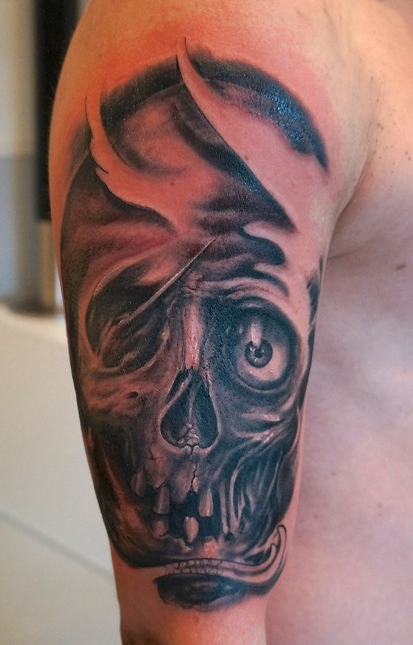 Skull In Agony Tattoo By Graynd Tattooimages Biz Ideas And Designs