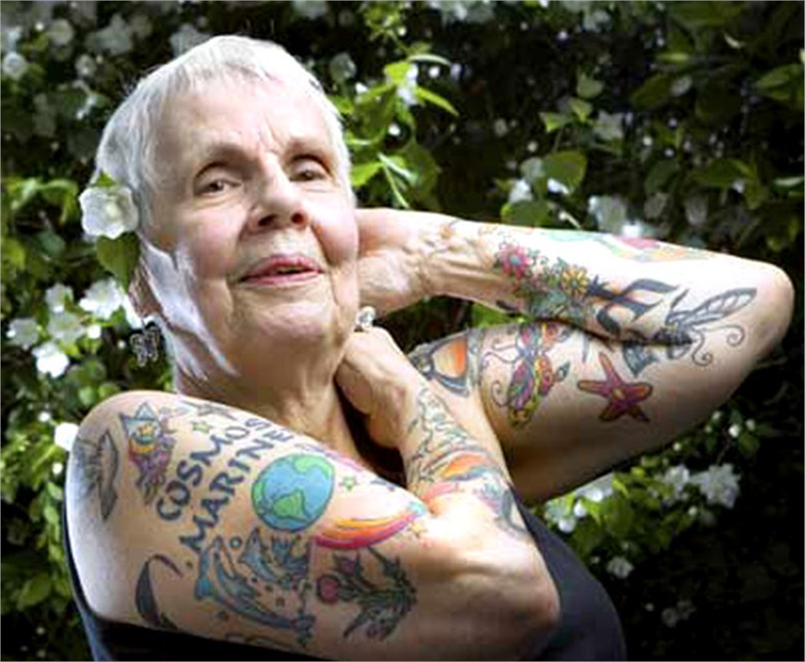 Tattooed Seniors Who Look Totally Bad *Ss Whimsy Has No Ideas And Designs