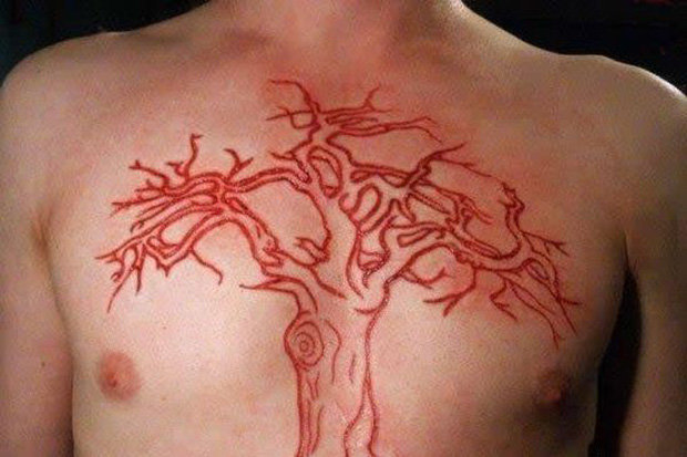 Weirdest Tattoos Skin Cutting Scaring Burning And Etching Ideas And Designs