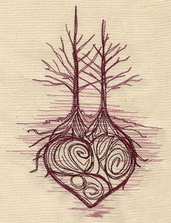 Intertwined Tree Embroidered Flour Sack By Ideas And Designs