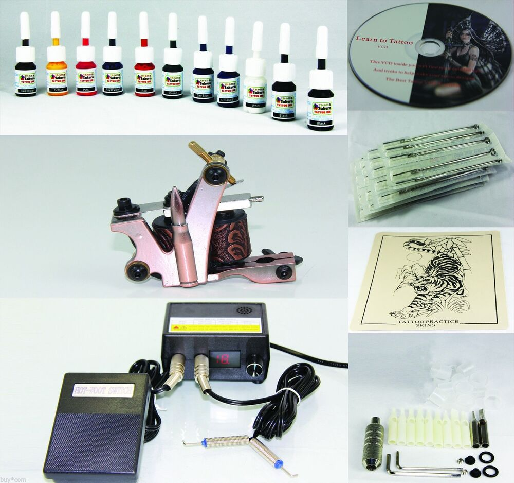 Top Rated Complete Tattoo Kit Machine Gun 11 Color Inks Ideas And Designs
