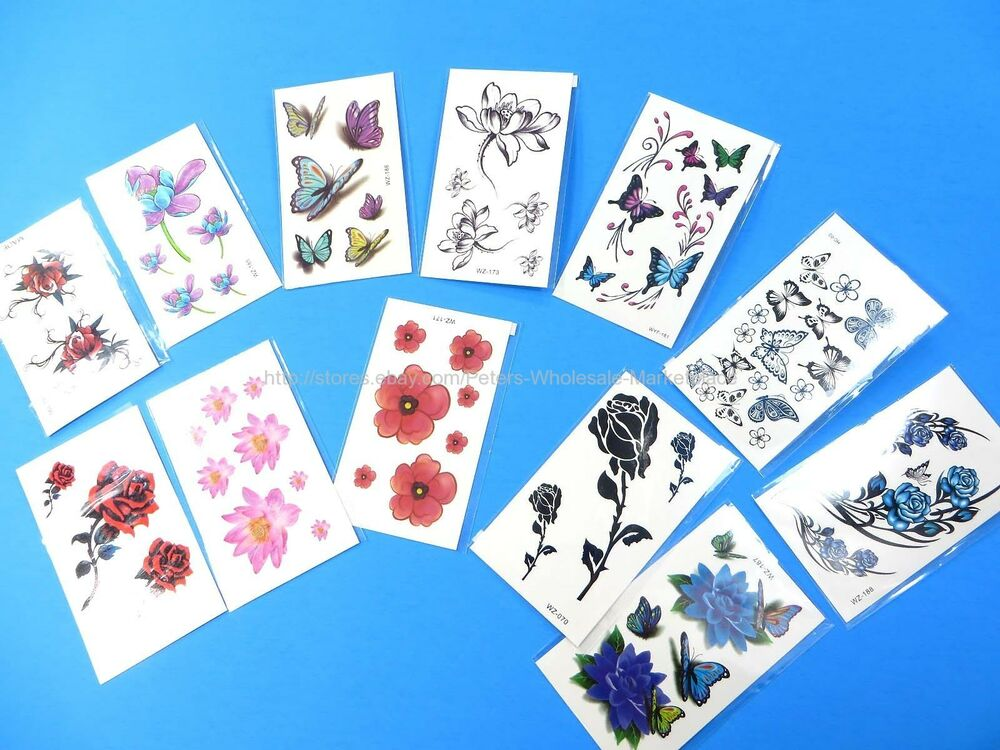 10 Sheets Realistic Temporary Tattoos For Adults Temporary Ideas And Designs