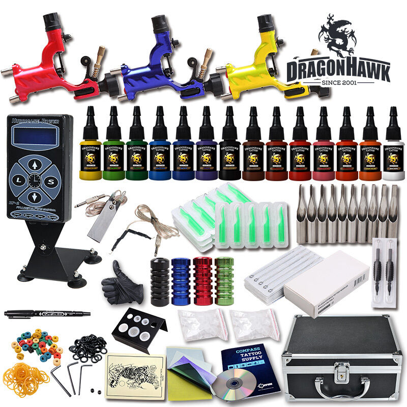 Professional Complete Tattoo Kit 3 Top Rotary Machine Gun Ideas And Designs