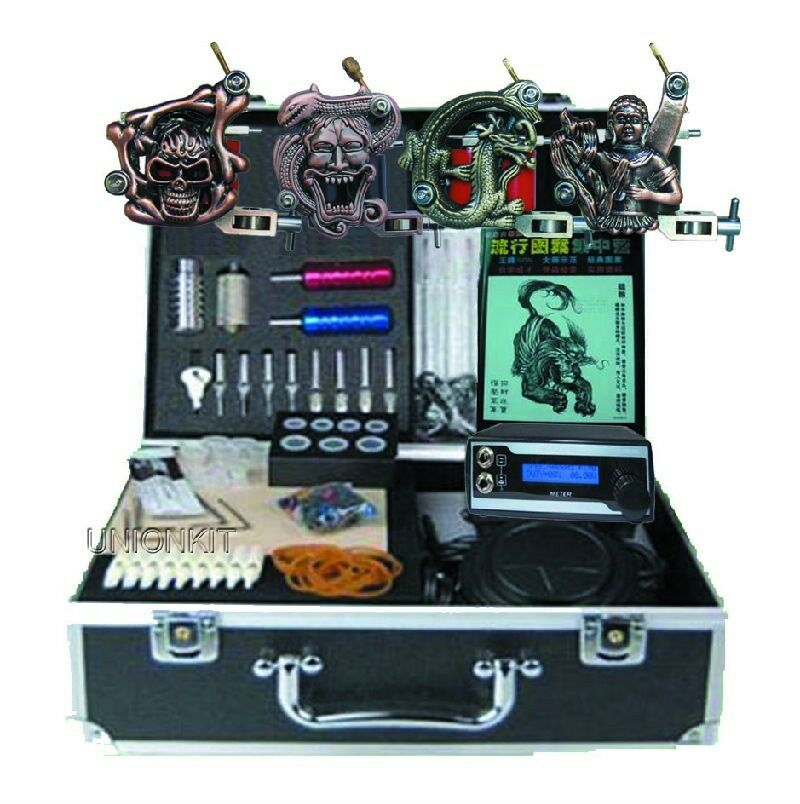 High Quality Tattoo Kits Lcd Power Supply 4 Machine Set Ideas And Designs