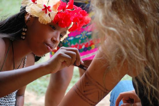 You Can Get A Temporary Tattoo With The Jagua Paint The Ideas And Designs
