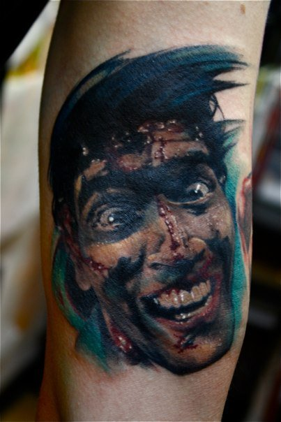 Fyeahtattoos Com — Portrait Of Bruce Campbell From Evil Ideas And Designs
