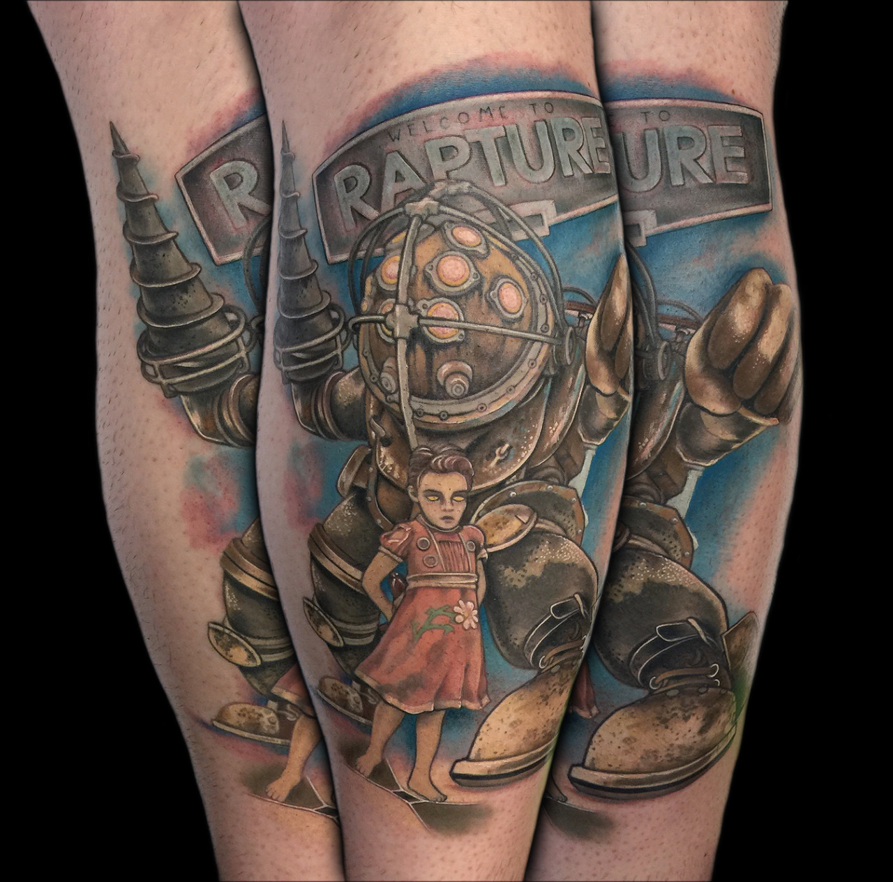 Fyeahtattoos Com — Bioshock Video Game Tattoo Of Big Daddy Ideas And Designs