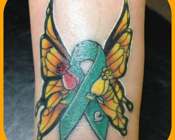 Cancer Ribbon Butterfly Tattoo Designs Cool Tattoos Ideas And Designs