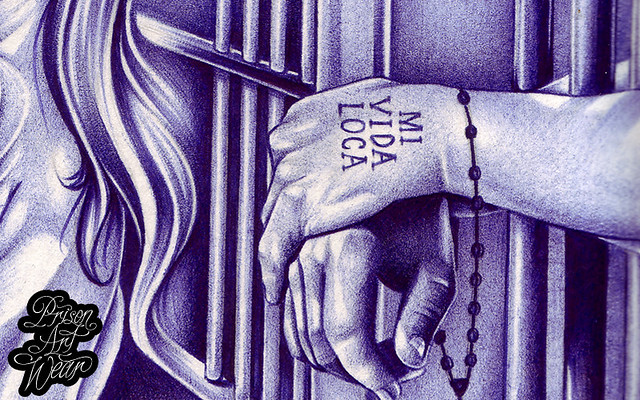 Mi Vida Loca Ballpoint Pen Prison Art Composed Behind Ideas And Designs